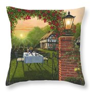 Rose Cottage - Dinner For Two Throw Pillow
