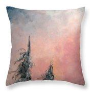 Rose De Givre - Frost Pink Throw Pillow