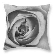 Rose Digital Oil Paint Throw Pillow