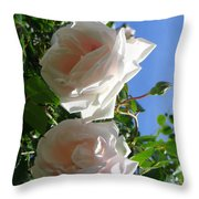 Rose Duo Throw Pillow