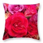 Rose Enhanced Throw Pillow