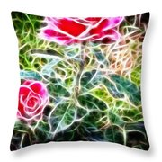 Rose Expressive Brushstrokes Throw Pillow