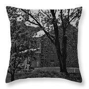 Rose Farm House-gettysburg Throw Pillow