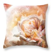 Rose For A Unicorn Throw Pillow