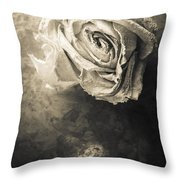 Rose From Another Day Throw Pillow