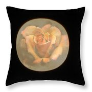 Rose Full Moon Throw Pillow