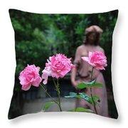 Rose Garden 3 Throw Pillow