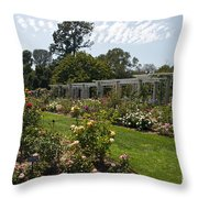 Rose Garden At The Huntington Library Throw Pillow