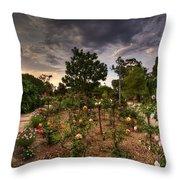 Rose Garden Throw Pillow