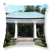 Rose Garden Pergola In Delaware Park Buffalo Ny Oil Painting Effect Throw Pillow