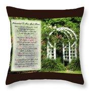 Rose Garden Prayer Throw Pillow