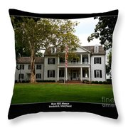 Rose Hill Manor Throw Pillow
