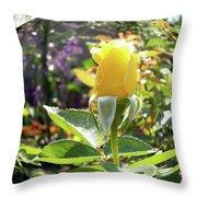 Rose In A Bubble Digital Art Throw Pillow