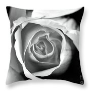 Rose In Black And White Throw Pillow