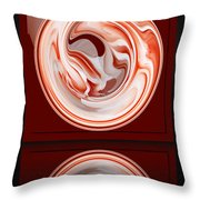 Rose In Orb Throw Pillow