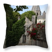 Rose Lane In Loches Throw Pillow