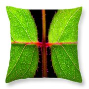 Rose Leaves Throw Pillow