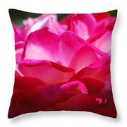 Rose Like A Lotus Flower Throw Pillow