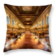 Rose Main Reading Room Throw Pillow