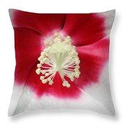 Rose Mallow - Honeymoon White With Eye 03 Throw Pillow