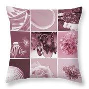 Rose Mosaic Throw Pillow