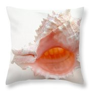 Rose Murex Seashell Throw Pillow