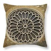 Rose Of The Cathedral Of San Giusto Throw Pillow