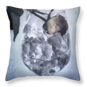 Rose On The Rocks Throw Pillow by Joana Kruse