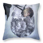 Rose On The Rocks Throw Pillow by Joana Kruse
