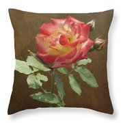 Rose On Thornridge Road Throw Pillow