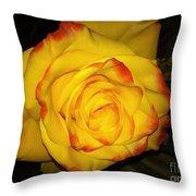 Rose Passion Yellow Impression Throw Pillow