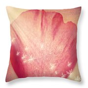 Rose Petal Throw Pillow