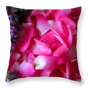 Rose Petals And Thyme Throw Pillow by Margaret Newcomb