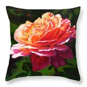 Rose Petals Catching Sunlight Throw Pillow