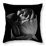 Rose Portrait Bw Throw Pillow