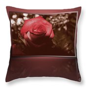 Rose Reflection 1 Throw Pillow