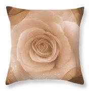 Rose Romance Throw Pillow