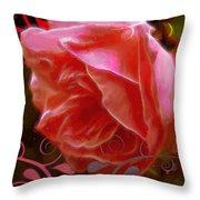 Rose Rose And Rose Throw Pillow