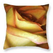 Rose Scan Softened Throw Pillow