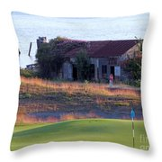 Rose Shack At 17 - Chambers Bay Golf Course Throw Pillow