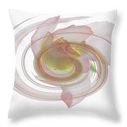 Rose Swirl Throw Pillow