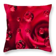 Rose Syrup Abstract 1 A Throw Pillow