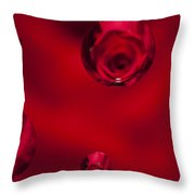 Rose Syrup Abstract 1 B Throw Pillow