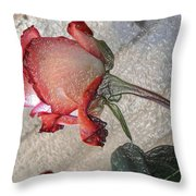 Rose To The Side 4 Throw Pillow