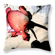 Rose To The Side 5 Throw Pillow