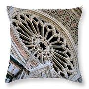 Rose Window Duomo Florence Throw Pillow