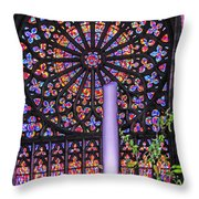 Rose Window Of St Vincent Throw Pillow