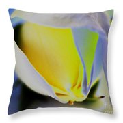 Rose Yellow Throw Pillow