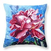Rose Throw Pillow by Zaira Dzhaubaeva