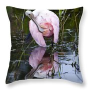 Roseate Spoonbill No.3 Throw Pillow
